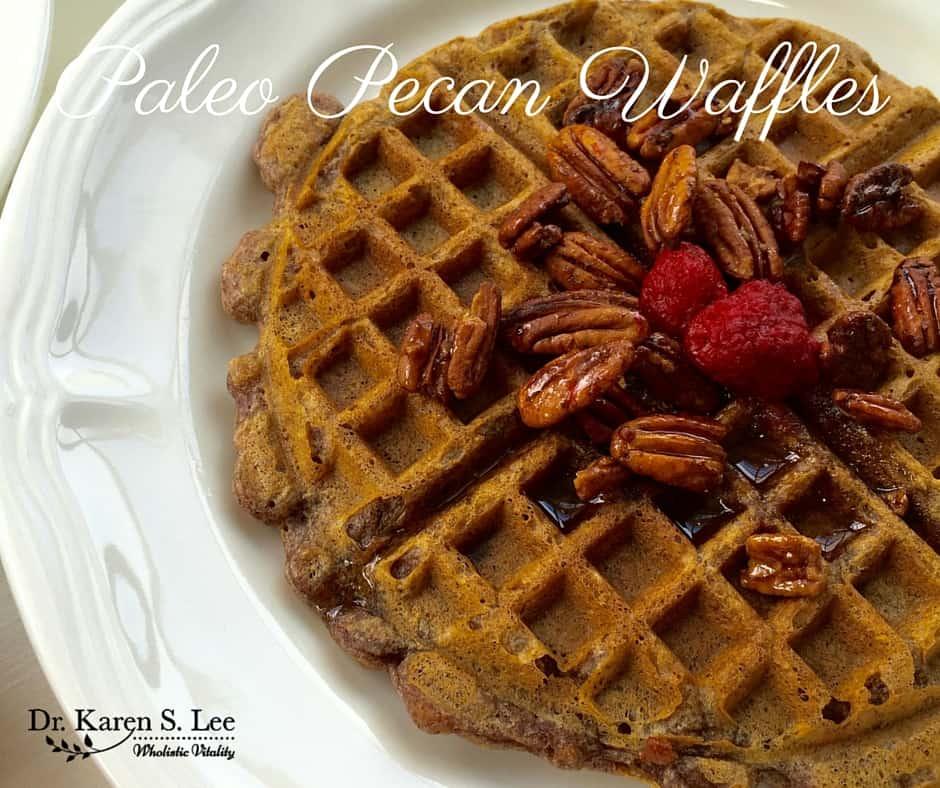 Paleo Pecan Waffles from Down South Paleo Cookbook | Dr. Karen S. Lee