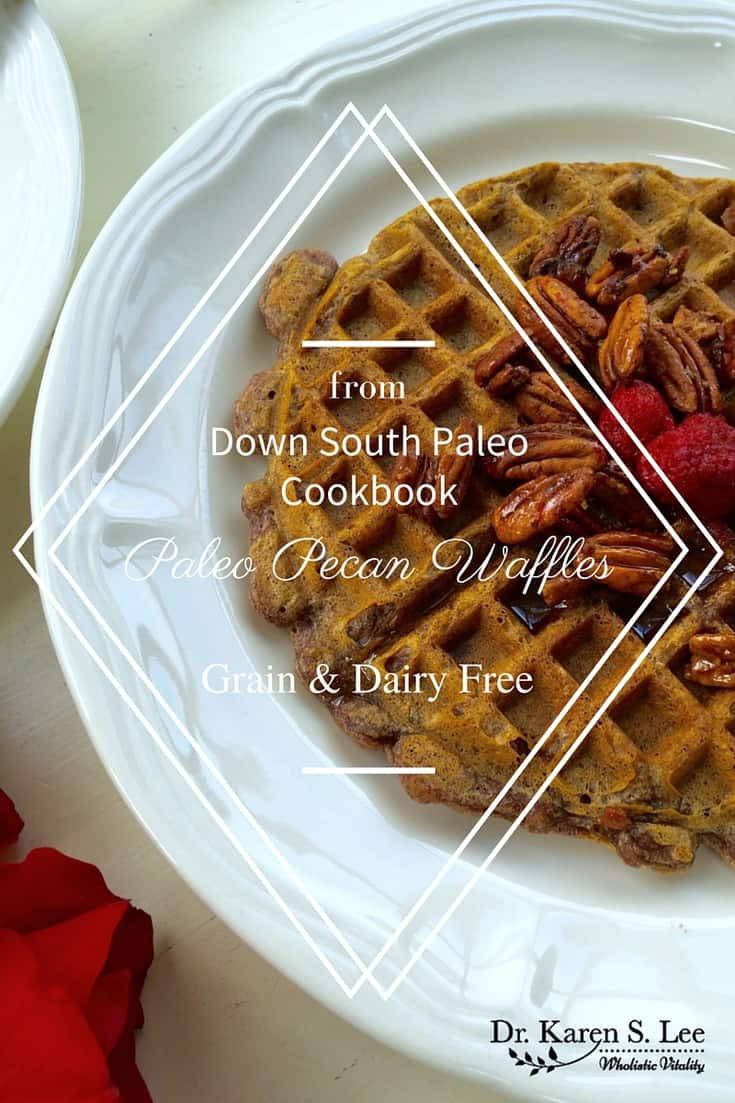 Paleo Pecan Waffles by drkarenslee