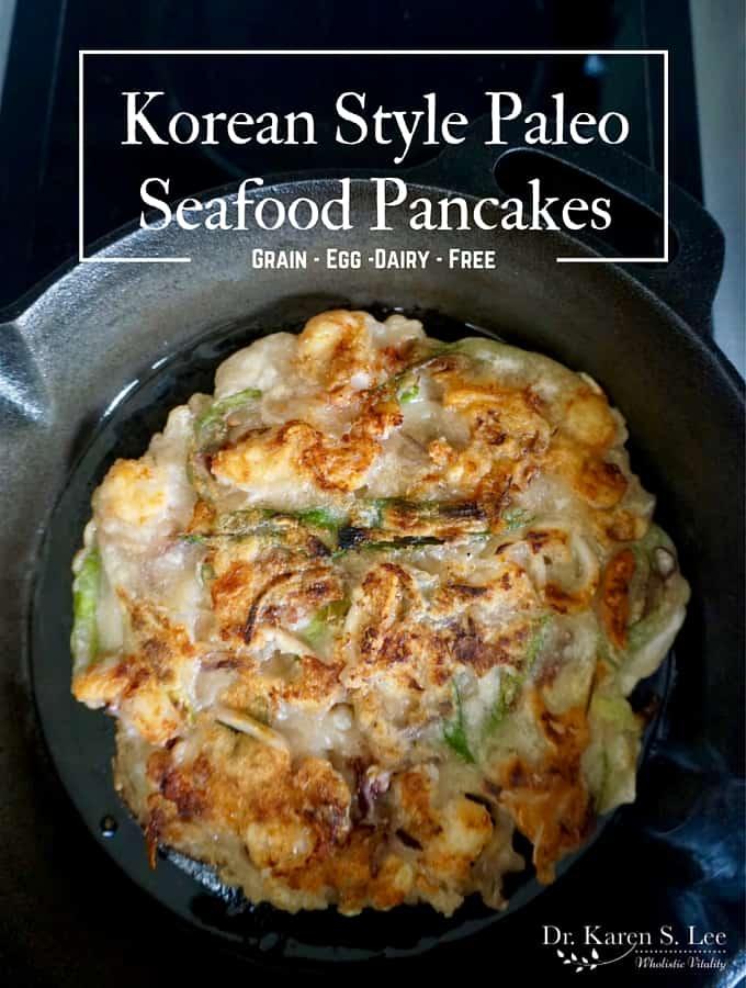 Korean Style Paleo Seafood Pancakes