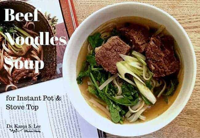 Beef Noodles Soup in white bowl