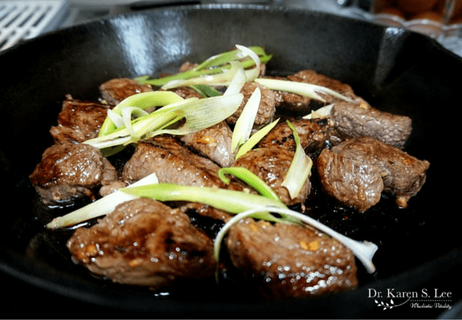 Cubed Special Kalbi on Pan