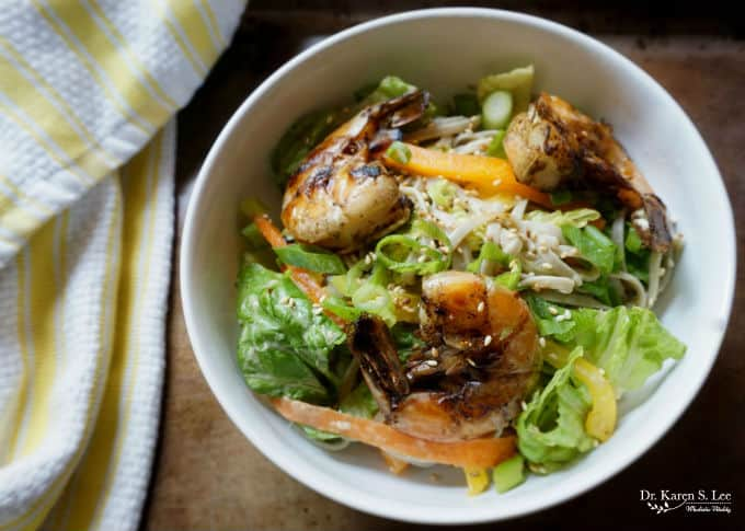 Gluten Free Soba Salad with Shrimp