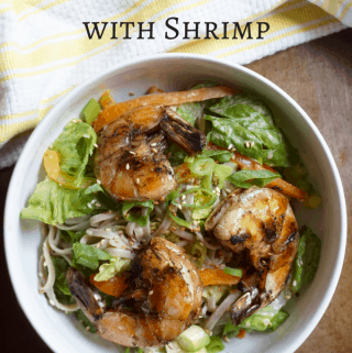 Soda Noodles Salad with Shrimp