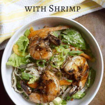 Soda Noodles Salad with Shrimp