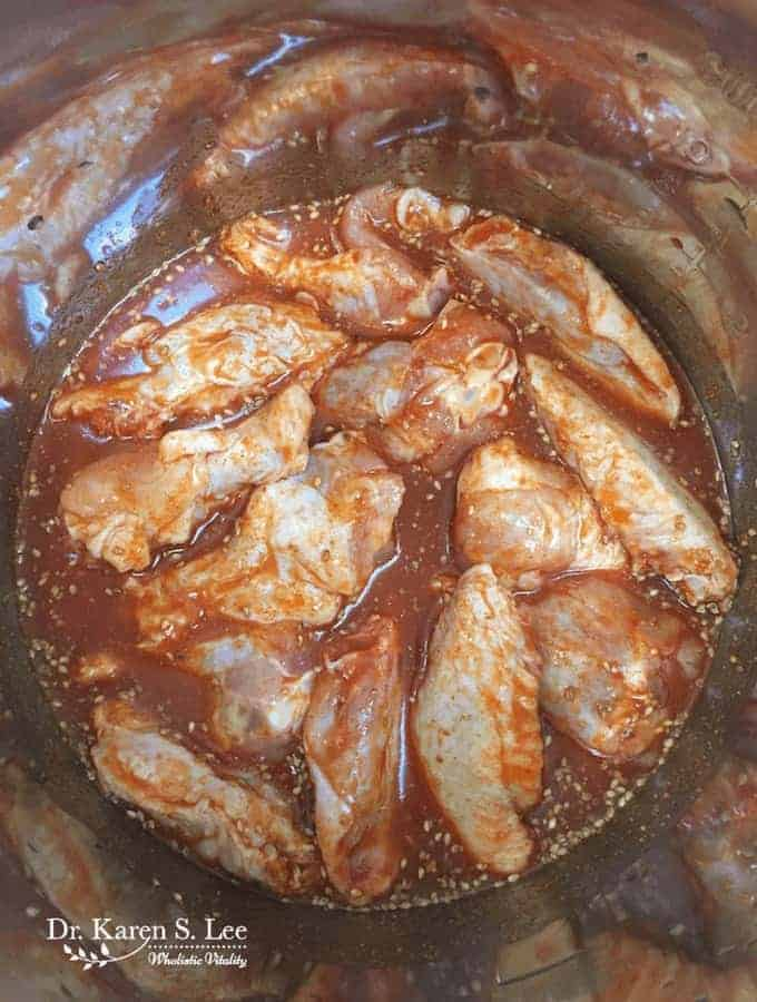 Chicken wings in the instant pot