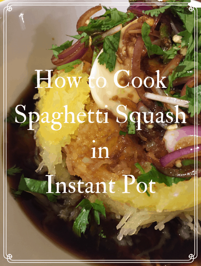 How to Cook Spaghetti Squash in Instant Pot & Asian Inspired Sauce Recipe