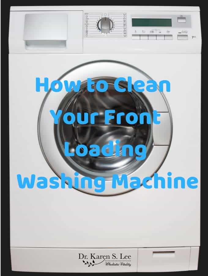 Front loading washing machine front view