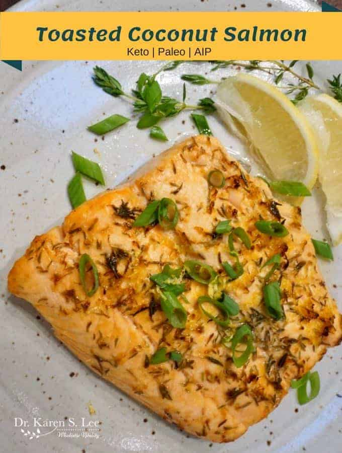 Toasted Coconut Salmon Keto Paleo AIP
