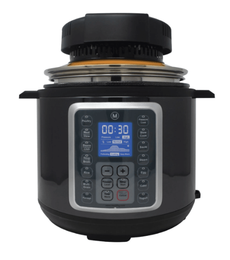 CrispLid on top multipot pressure cooker