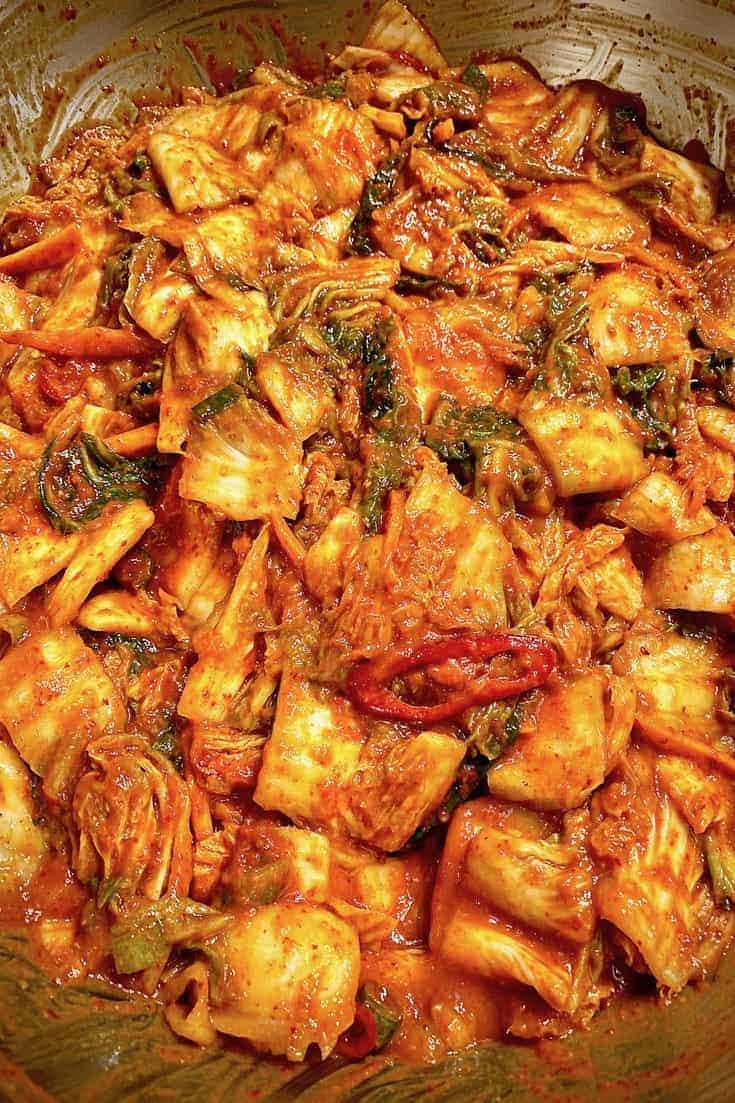 cabbages in red pepper sauce